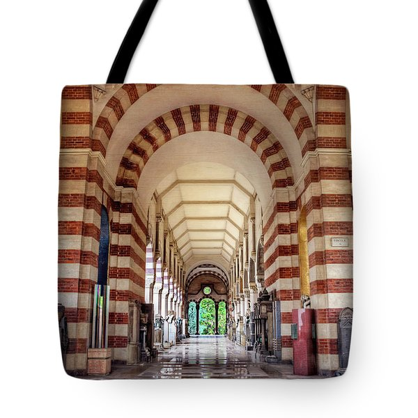 Tote Bag featuring the photograph Monumental Cemetery In Milan Italy  by Carol Japp