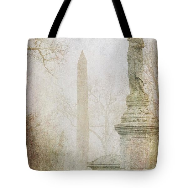 Tote Bag featuring the photograph Monumental Fog by Heidi Hermes