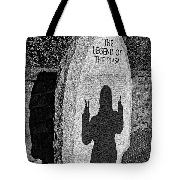 Monumental Shadows Peace Out Tote Bag