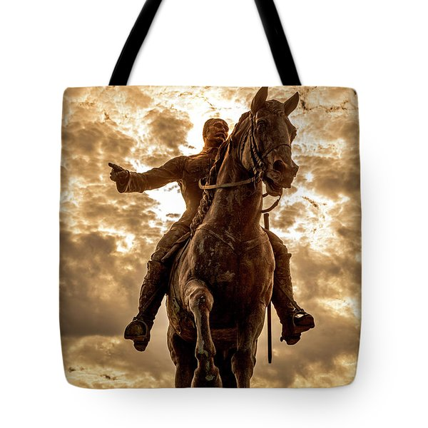 Tote Bag featuring the photograph Monumento A Calixto Garcia Havana Cuba Malecon Habana by Charles Harden