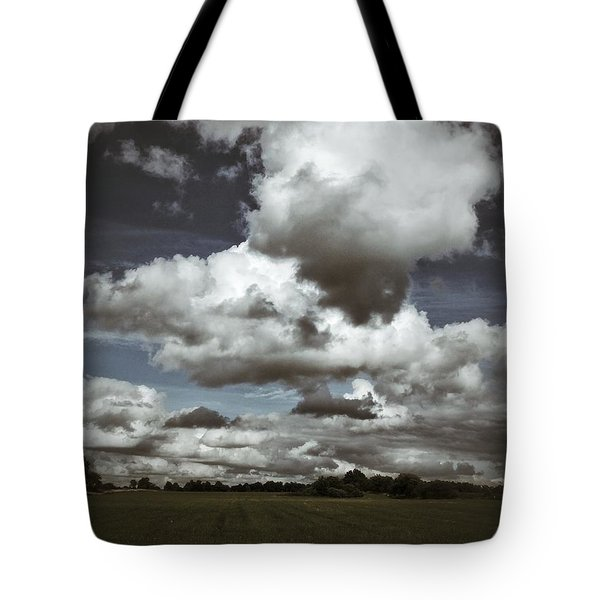 Moodiness In The Clouds Tote Bag by Karen Stahlros
