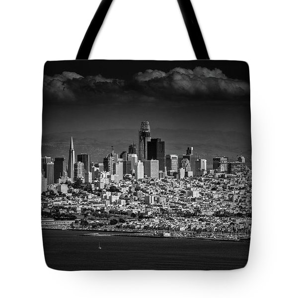 Moody Black And White Photo Of San Francisco California Tote Bag by Steven Heap