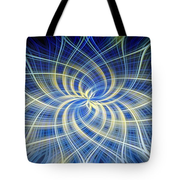 Moody Blue Tote Bag by Carolyn Marshall