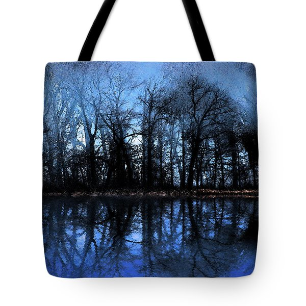 Moody Blue Daybreak Tote Bag by Cedric Hampton