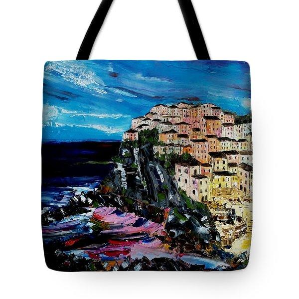 Moody Dusk In Italy Tote Bag