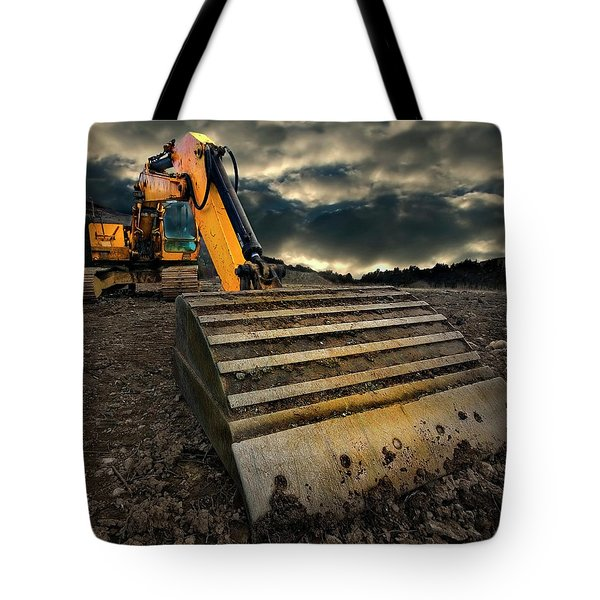 Moody Excavator Tote Bag