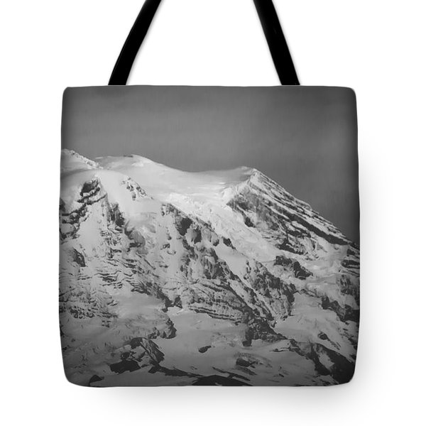 Tote Bag featuring the photograph Moody Mt. Rainier by Erin Kohlenberg