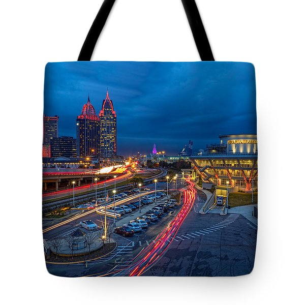Moody Night In The Port City Tote Bag