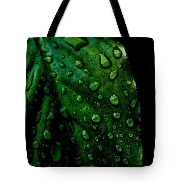 Moody Raindrops Tote Bag