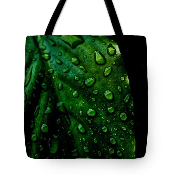 Moody Raindrops Tote Bag