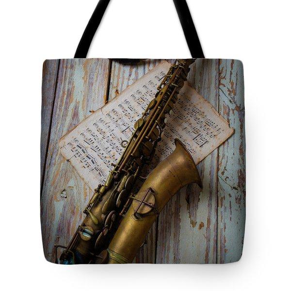 Moody Sax Tote Bag