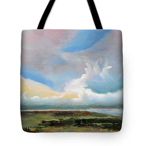 Moody Skies Tote Bag by Trina Teele