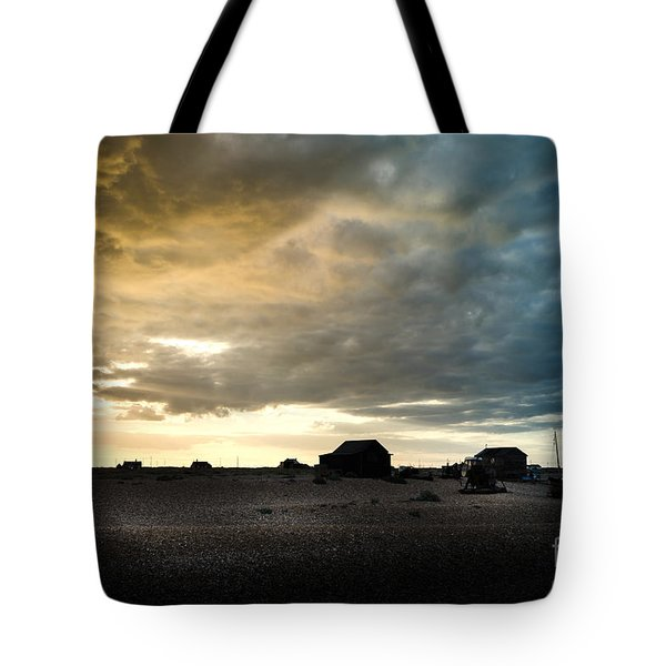 Moody Sky, Dungeness Beach  Tote Bag