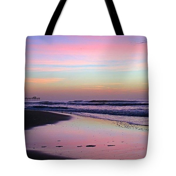 Moody Sunrise Tote Bag