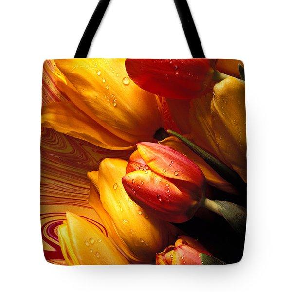 Moody Tulips Tote Bag by Garry Gay