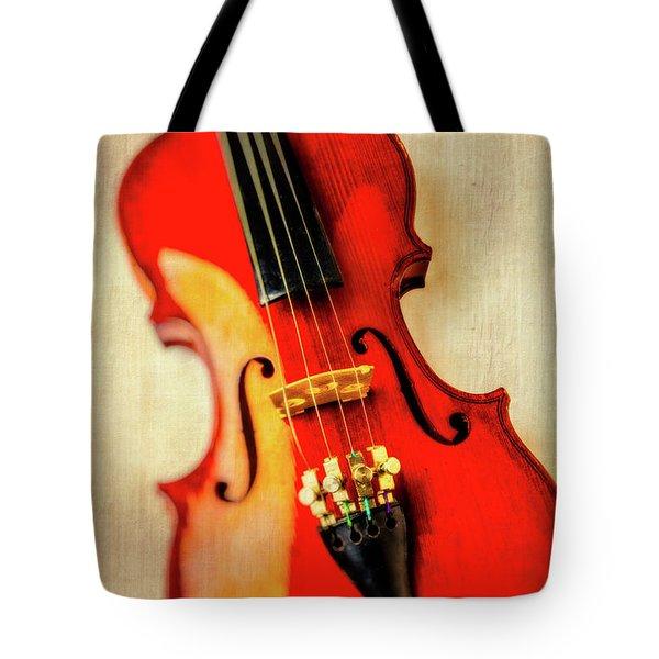 Moody Violin Tote Bag by Garry Gay