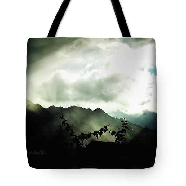 Tote Bag featuring the photograph Moody Weather by Mimulux patricia no No