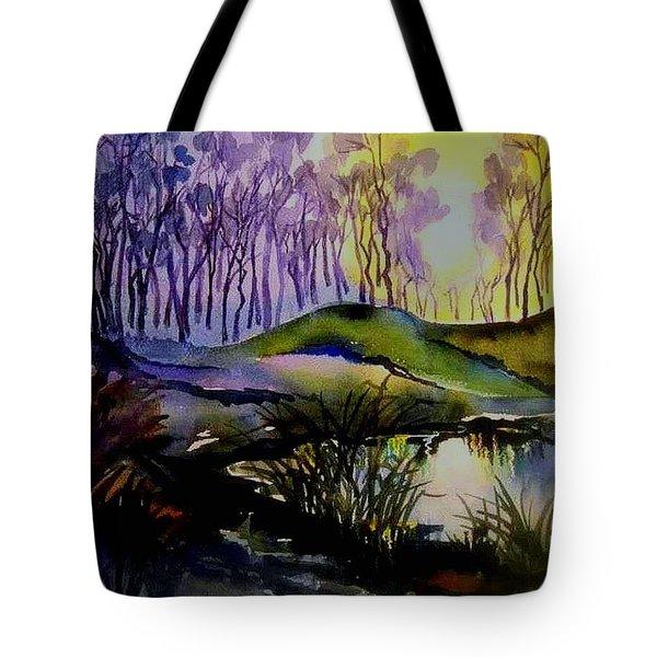 Moody Woods Tote Bag