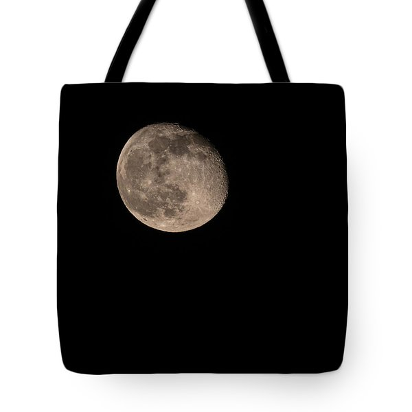 Tote Bag featuring the photograph Moon 4-13-2017 by Thomas Young