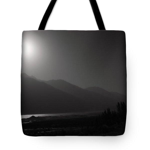 Moon Above Pyandzh Valley Tote Bag by Konstantin Dikovsky