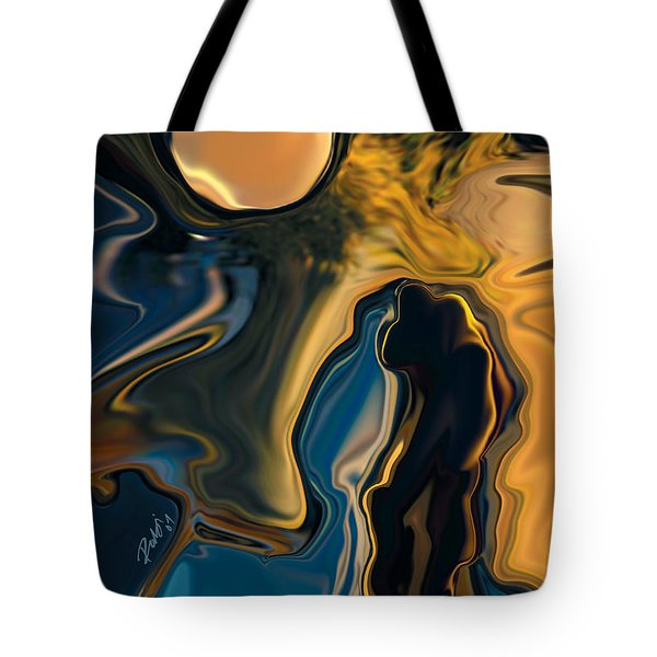 Moon And Fiance Tote Bag