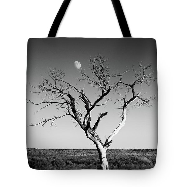 Moon And Memory At Bosque Del Apache N M Tote Bag