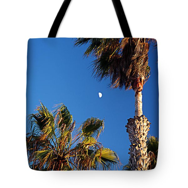 Moon And Palms Tote Bag