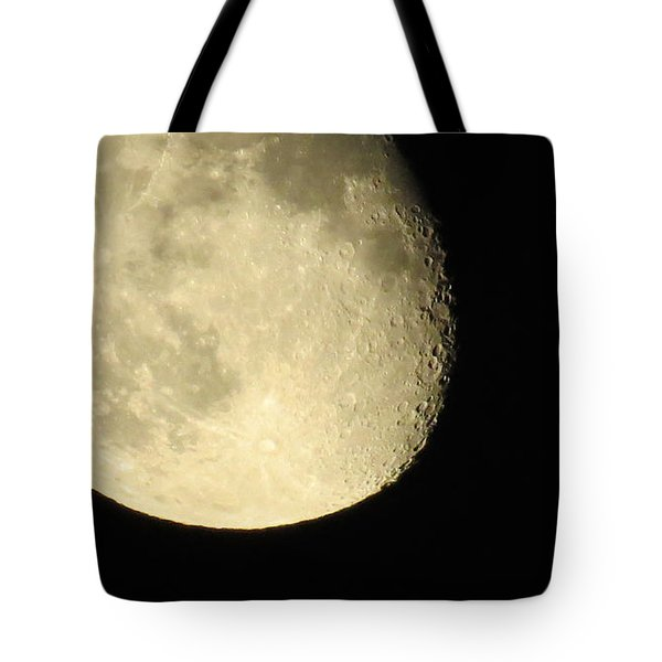 Tote Bag featuring the photograph Moon And Plane Over Sanibel by Melinda Saminski
