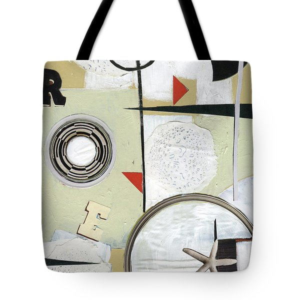 Tote Bag featuring the painting Moon And Stars In Space by Michal Mitak Mahgerefteh
