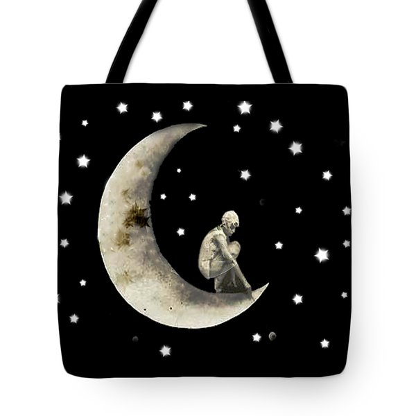 Moon And Stars T Shirt Design Tote Bag