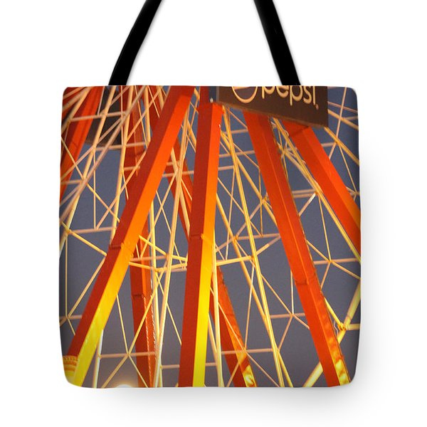 Moon And The Ferris Wheel Tote Bag