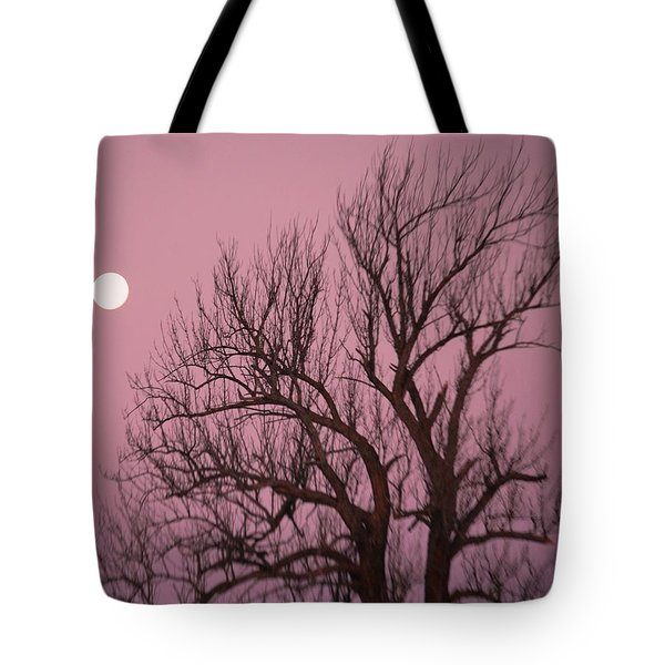 Moon And Tree Tote Bag