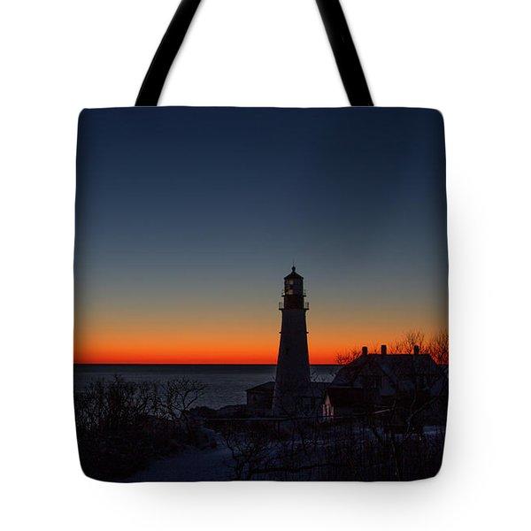 Moon And Venus - Headlight Sunrise Tote Bag