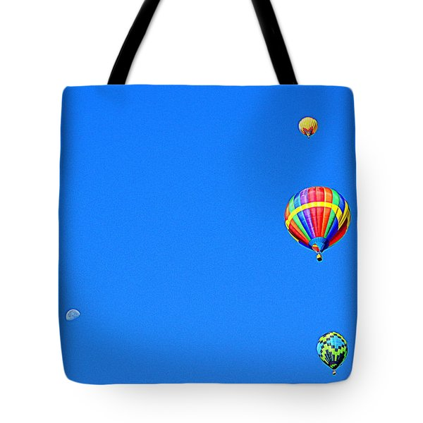 Tote Bag featuring the photograph Moon At 8 Oclock by AJ Schibig