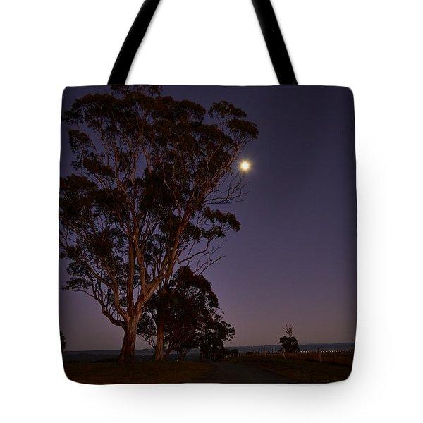 Moon At Dawn Tote Bag