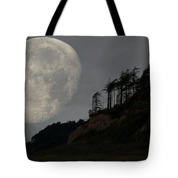 Moon At Roosevelt Beach Wa Tote Bag