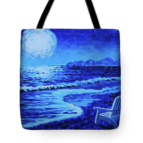 Moon Beach Tote Bag by Tommy Midyette