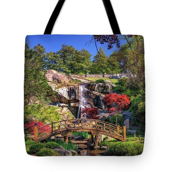 Moon Bridge And Maymont Falls Tote Bag