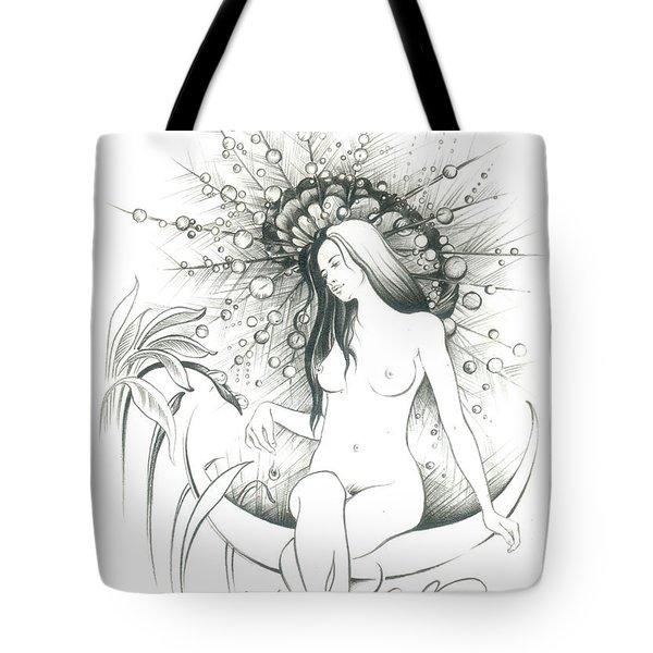 Moon Dew Tote Bag by Anna Ewa Miarczynska