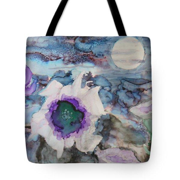 Moon Flower In Bloom Tote Bag