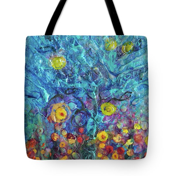 Moon Flowers Tote Bag
