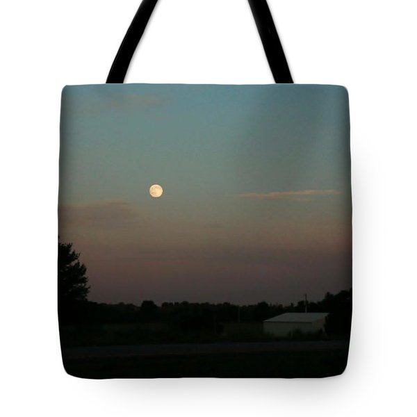 Tote Bag featuring the photograph Moon Glow by Ellen Barron O'Reilly