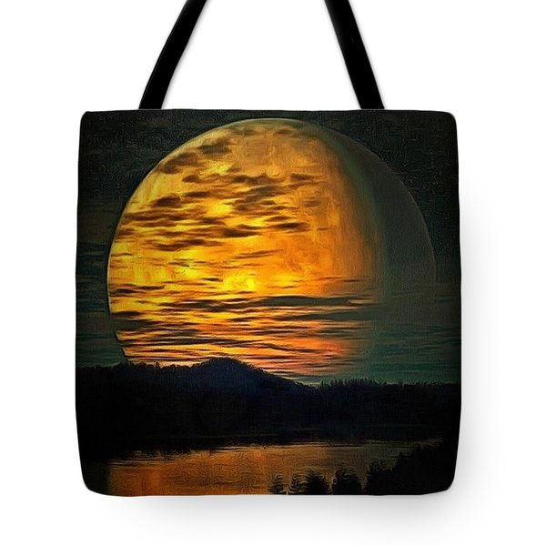 Moon In Ambiance Tote Bag