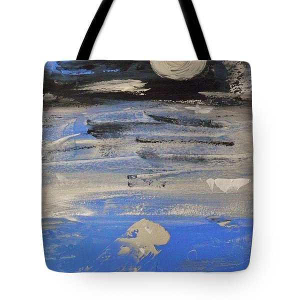 Moon In October Sky Tote Bag by Mary Carol Williams