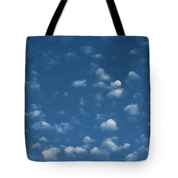 Moon In The Morning Sky Tote Bag