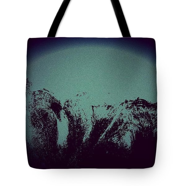 Moon In The Mountains Tote Bag