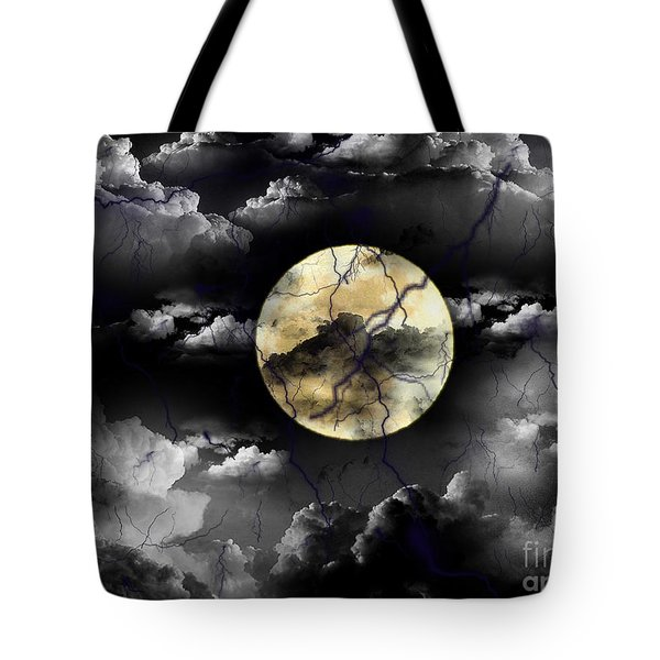 Moon In The Storm Tote Bag