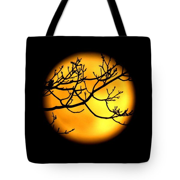 Moon In The Trees Tote Bag