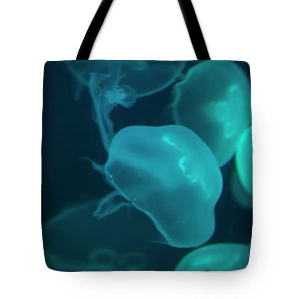 Tote Bag featuring the photograph Moon Jellyfish 02 by Chris Flees