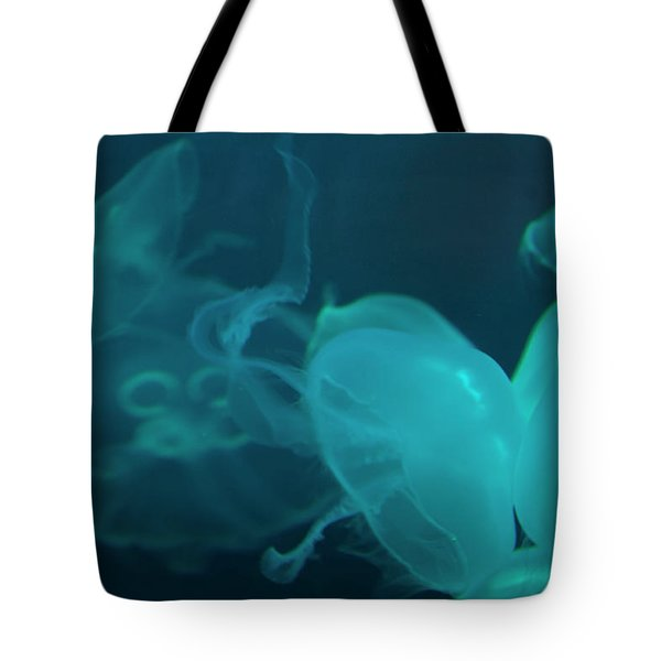 Tote Bag featuring the photograph Moon Jellyfish 3 by Chris Flees